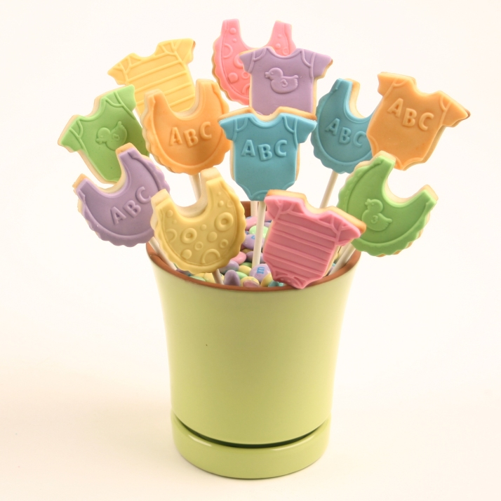 Baby Cookie Bouquet with Mini Baby Cookies