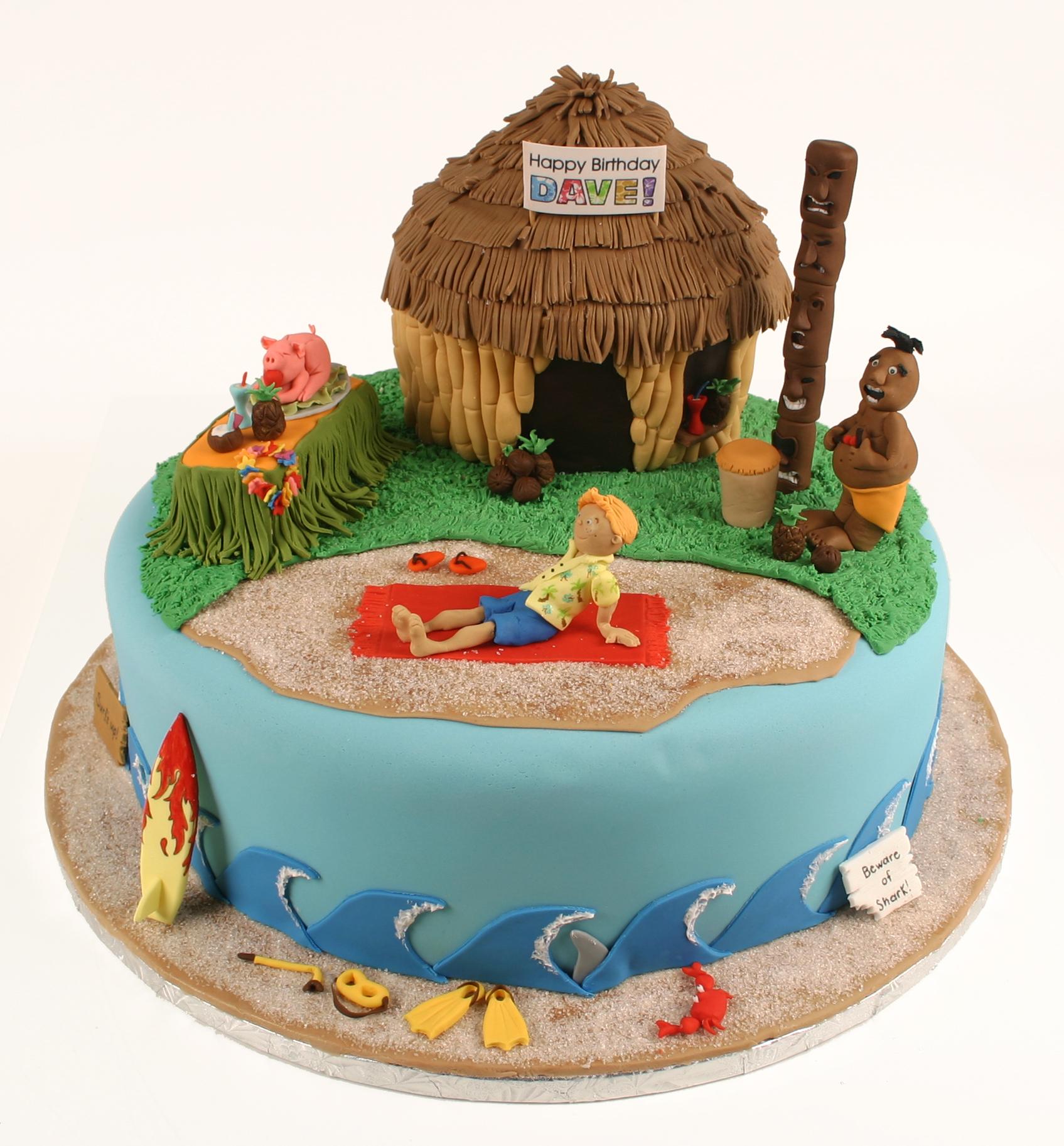 Daves 40th Birthday Luau Cake Autumn Carpenters Weblog