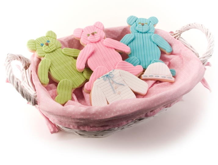 baby and teddy bear cookies