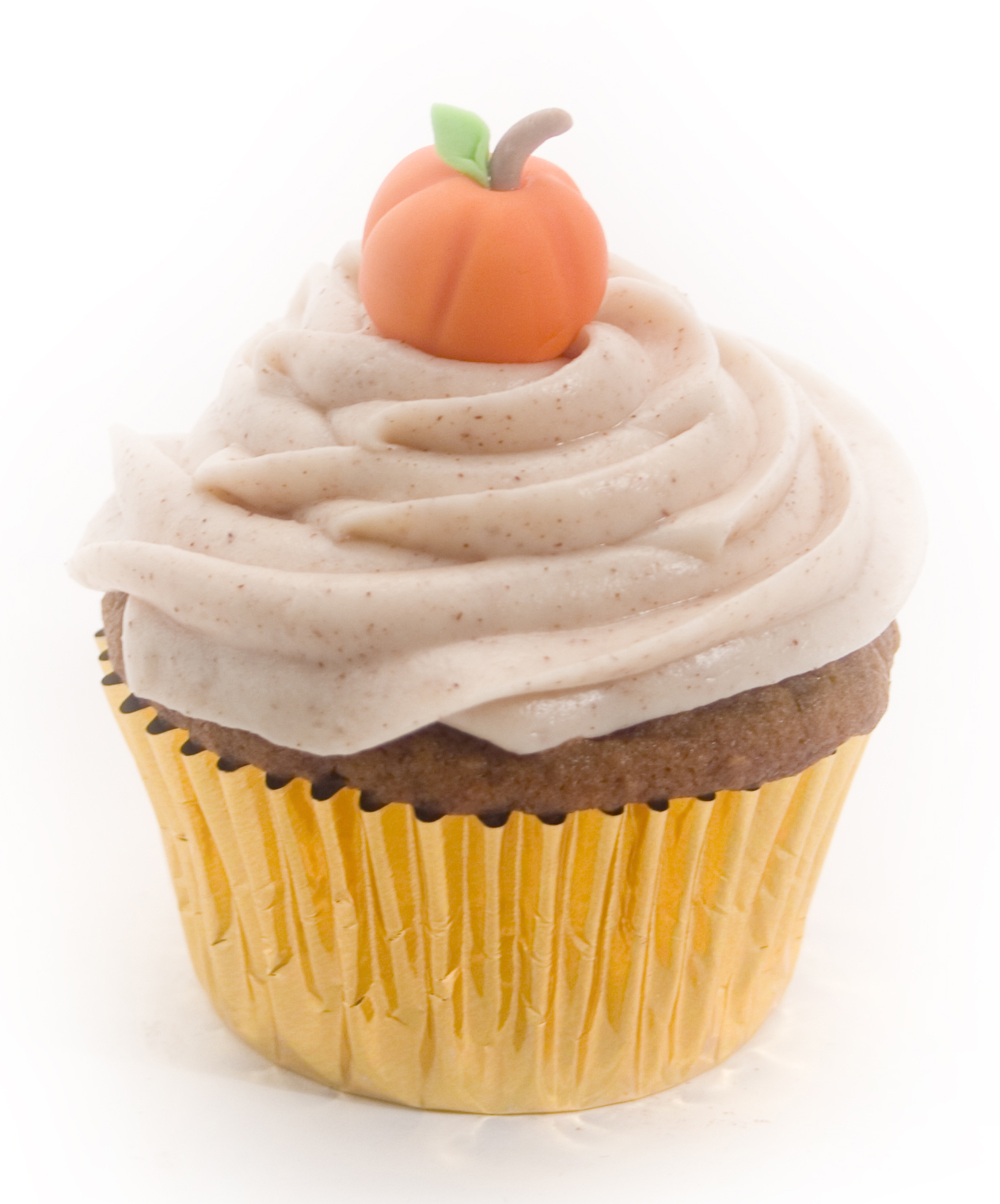 Pumpkin cupcakes with cinnamon cream icing