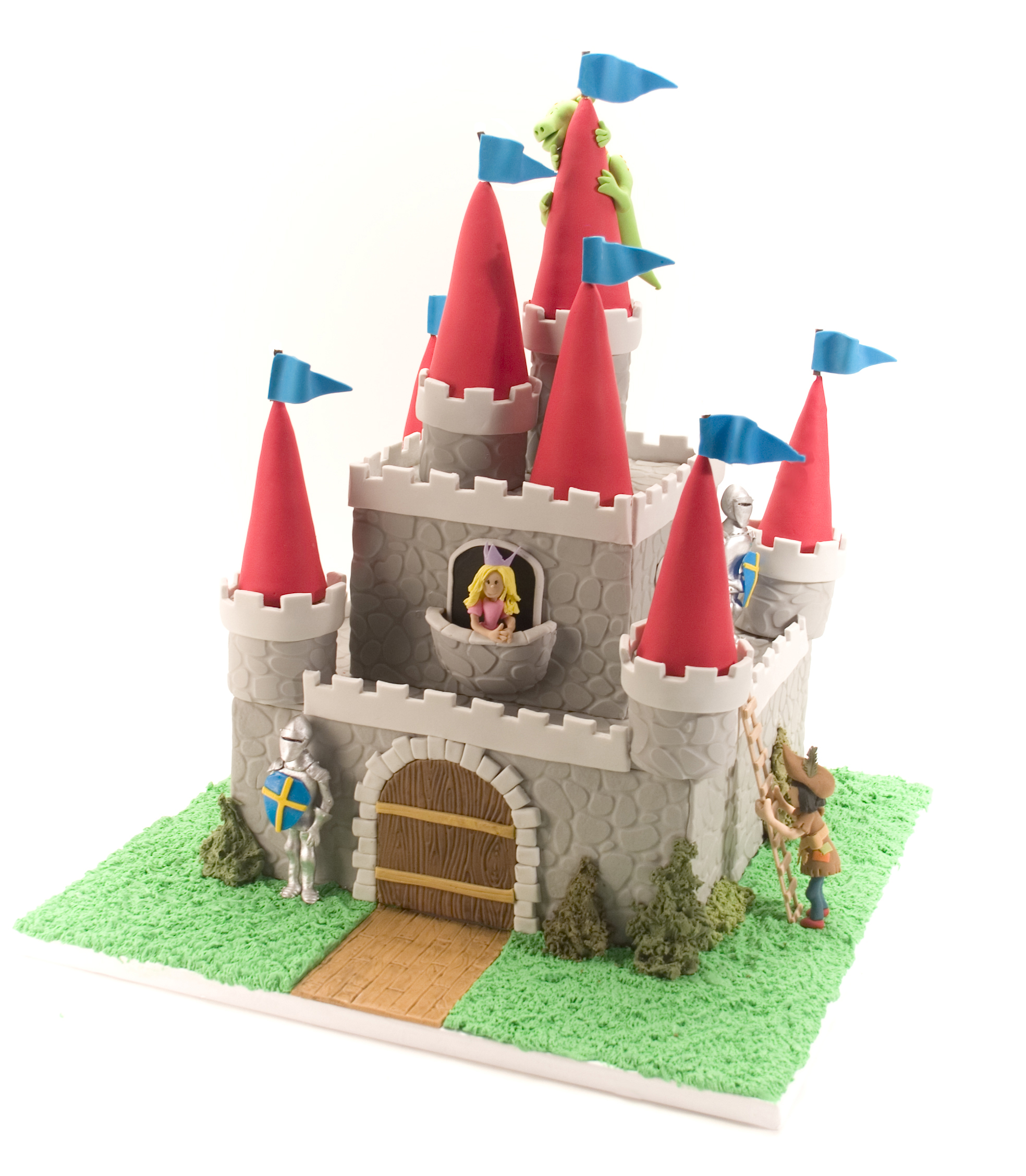 castle cake with princess knight and dragon autumn carpenter u0027s