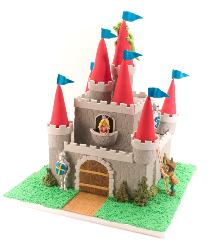 Castle Cake With Princess Knight And Dragon Autumn