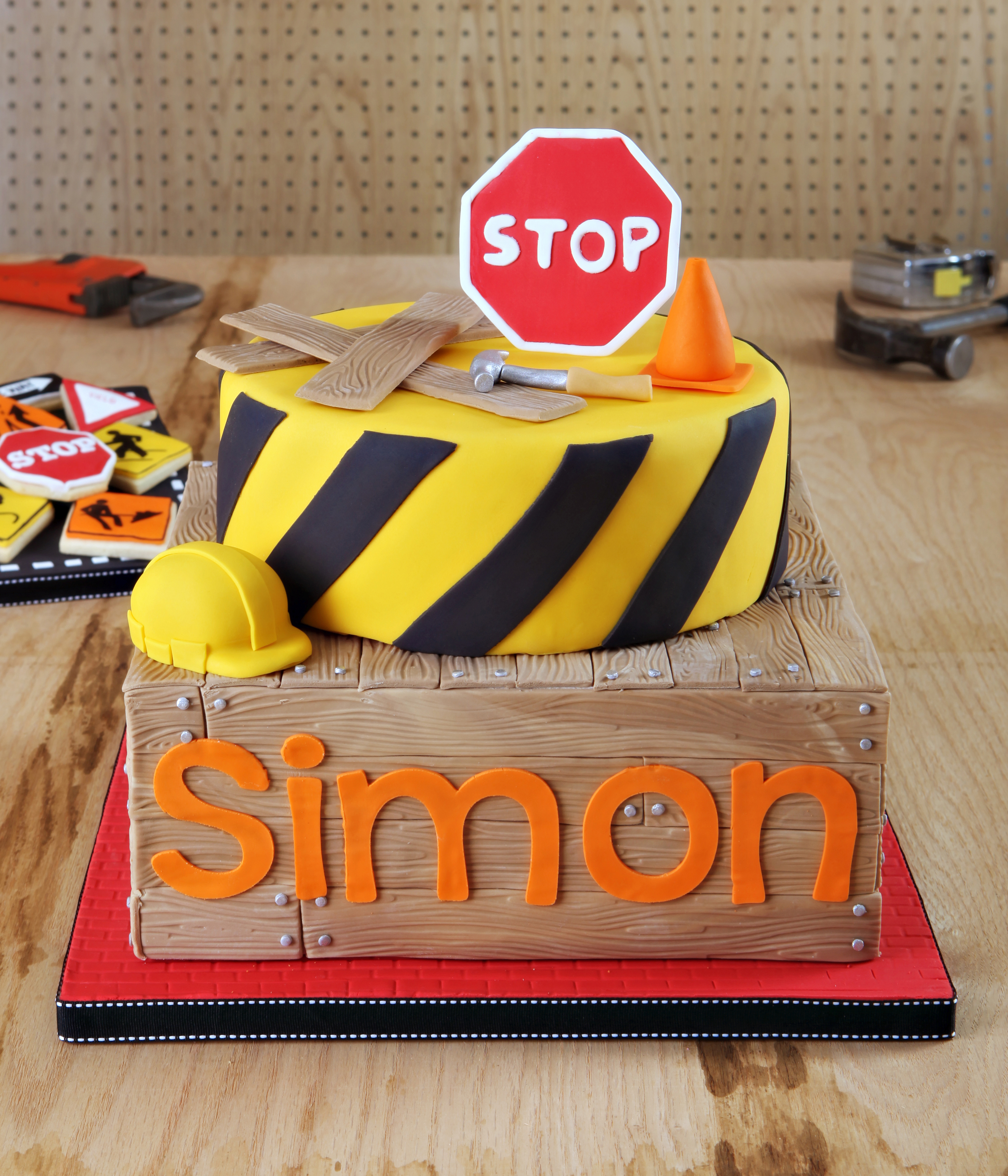 Road Construction Cake Toppers