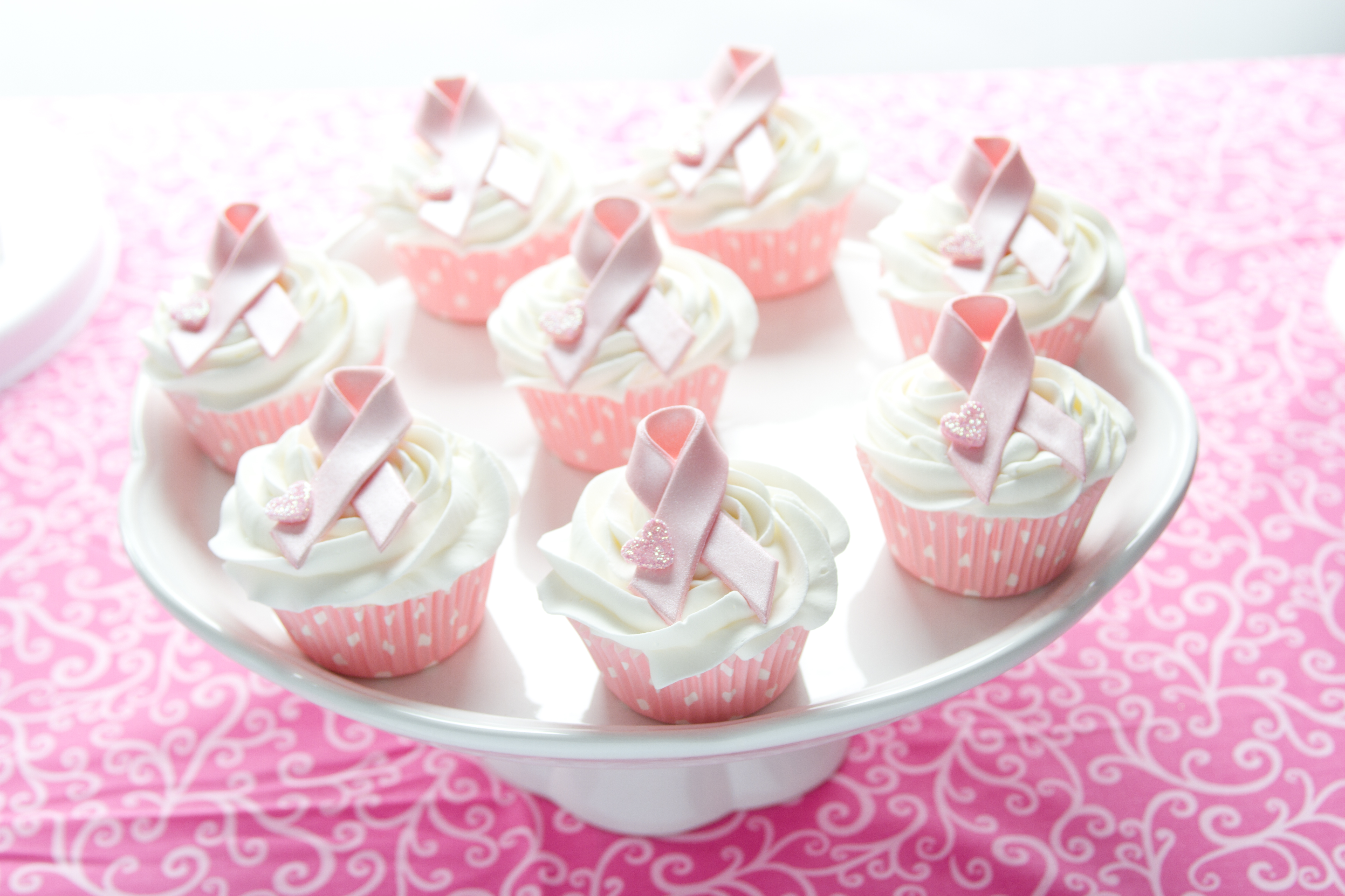 Images Of Breast Cancer Ribbon Cakes